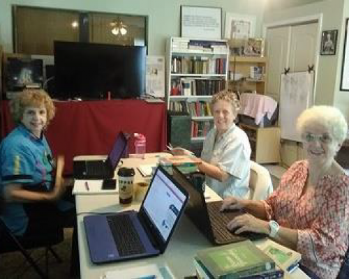 From left: Judith Snow, Donna Lobdell and Ann Willig